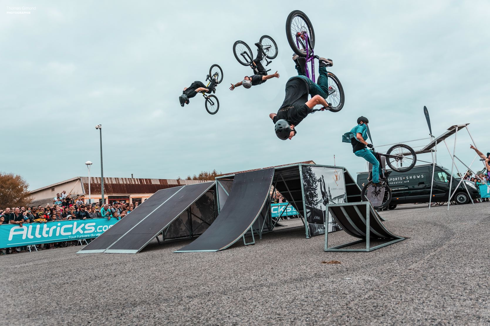 Freestyle MTB show on the Roc d'Azur 2019