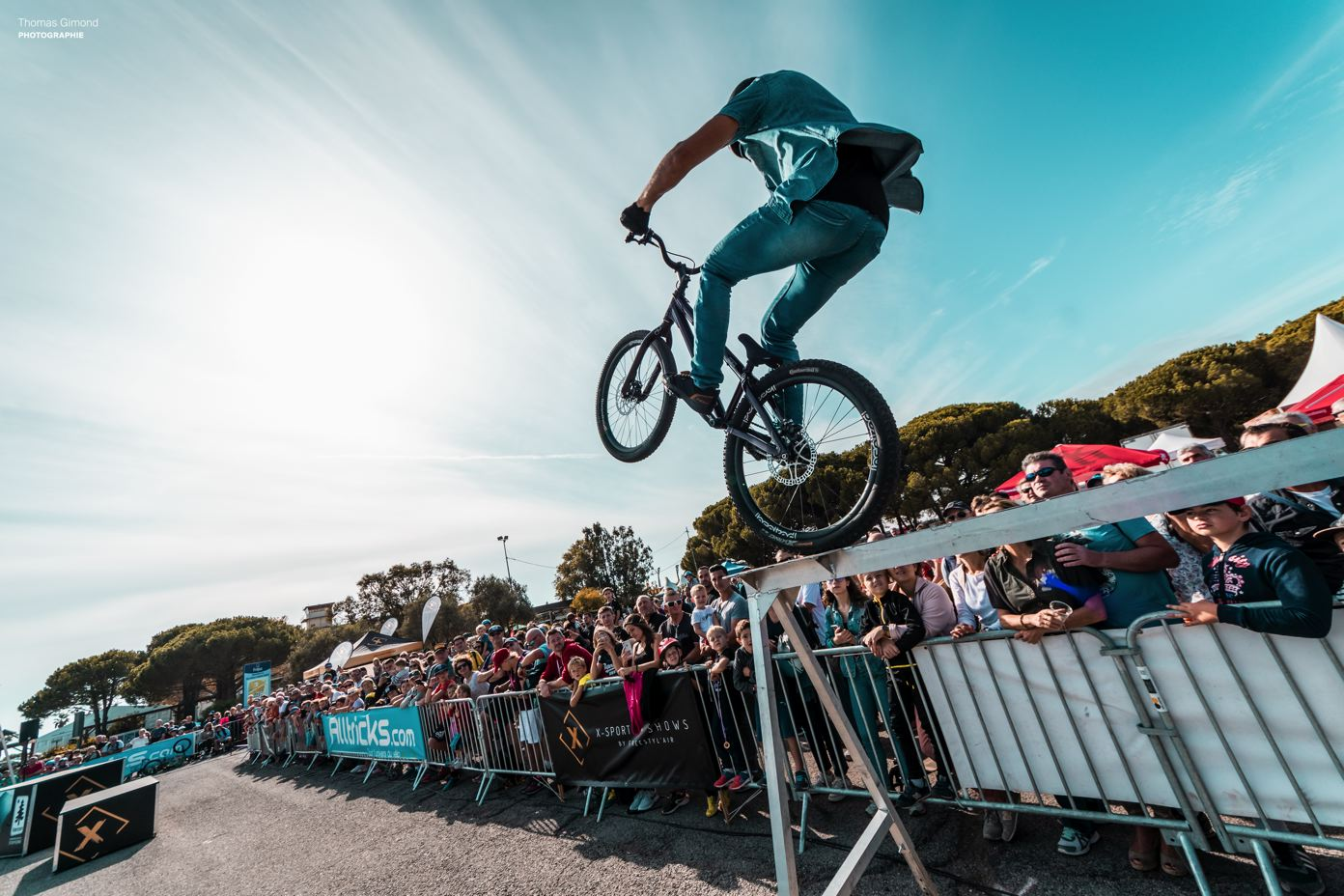 the most beautiful photos of the freestyle mtb show on the Roc d'Azur 2019