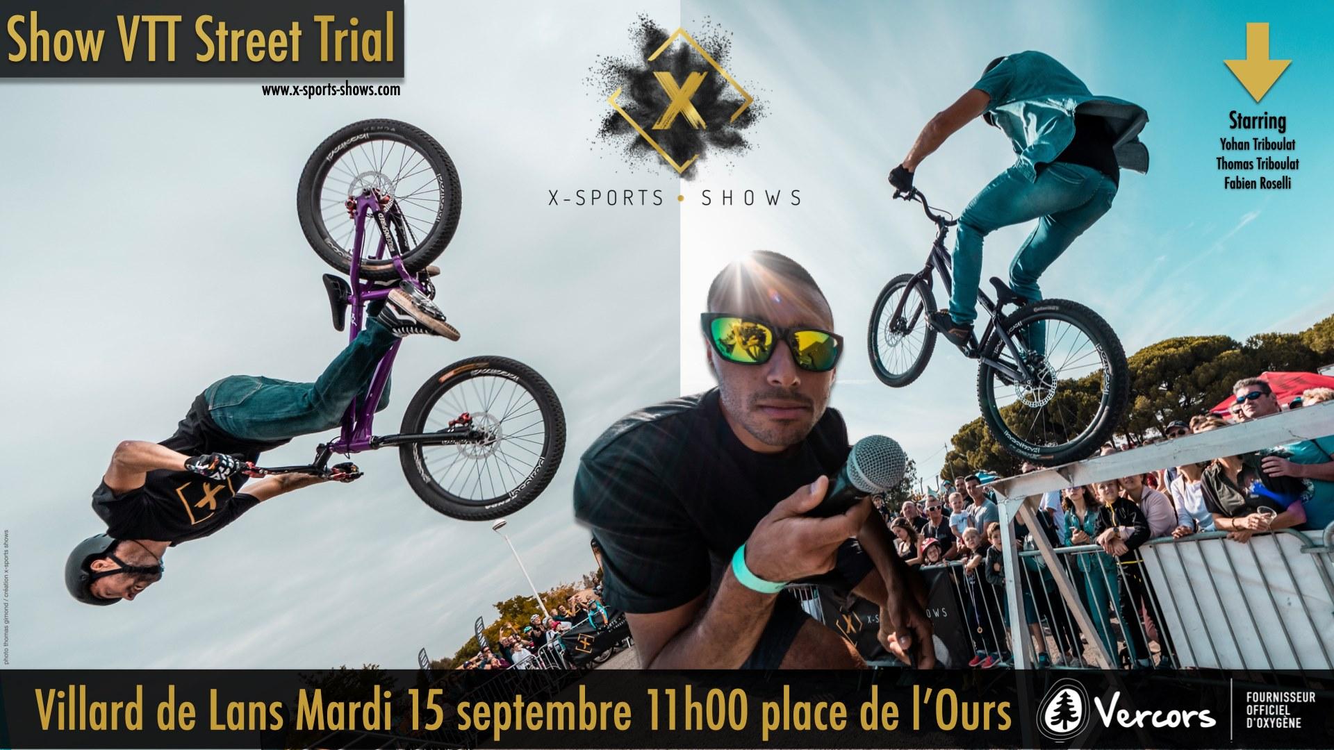 show VTT arrivée du Tour Villard de Lans 15 septembre